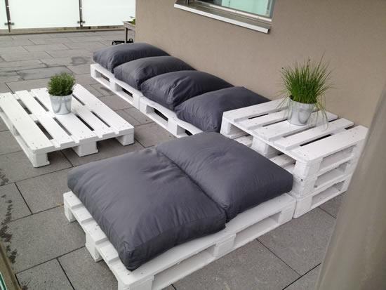 Decoração com paletes para terraço