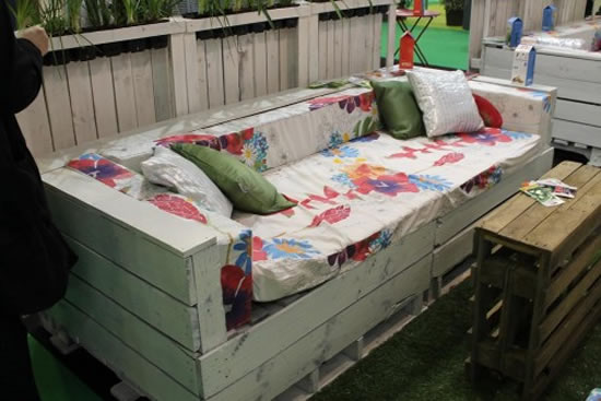 Decoração de terraço com paletes