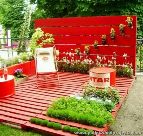 Ideias com paletes e caixotes para jardim