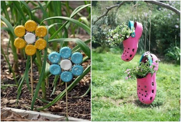Ideias para jardim com reciclagem