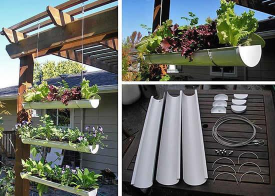 Faça hortas com canos PVC
