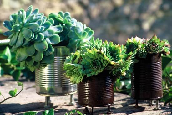 Ideias para fazer vasos com latas