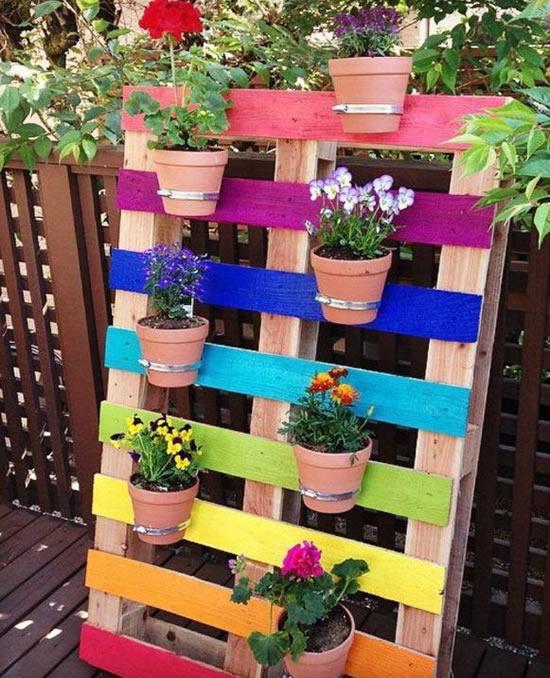 Palete colorido para decoração