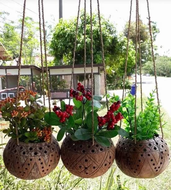 Vasos de coco
