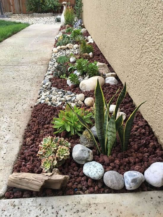 Pedras para decorar o jardim