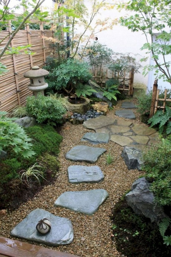 Decoração de pedras para enfeitar o jardim