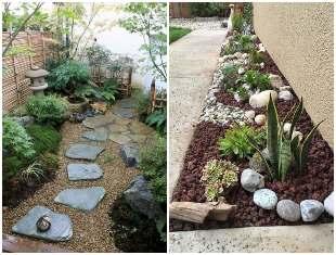 Ideias com pedras para decorar seu jardim