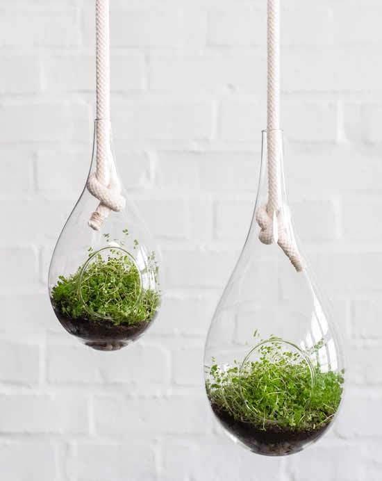 Ideia criativa para pendurar vasos