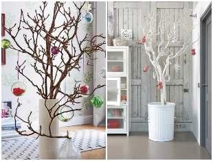 Árvores de Natal com Galhos Secos